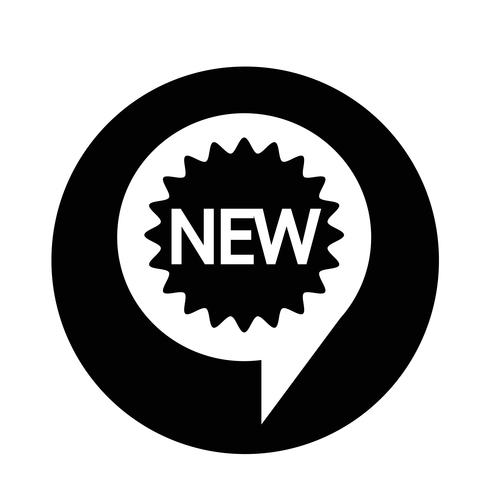 Ny ikon vektor