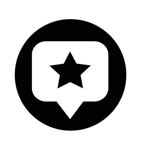 Sprechblase Sternsymbol vektor