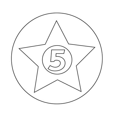 femstjärnigt hotell ikon vektor