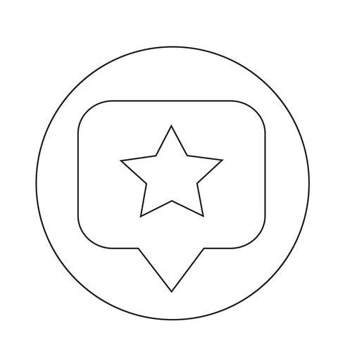 Talbubbelsstjärnaikon vektor