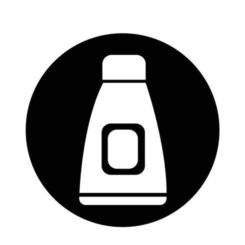 Creme Tube-Symbol vektor