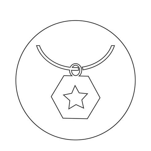Halskette-Symbol vektor