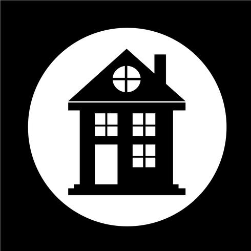 Fastighetshus ikon vektor