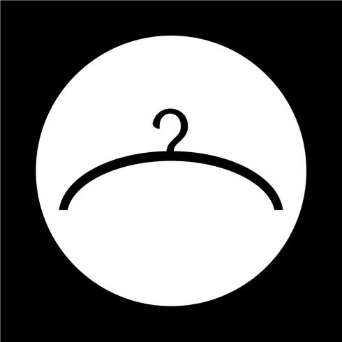 Kleiderbügel-Symbol vektor
