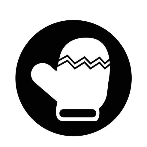 Weihnachtshandschuh-Symbol vektor