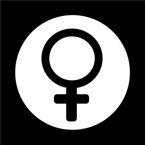 weibliche Zeichen Symbol vektor