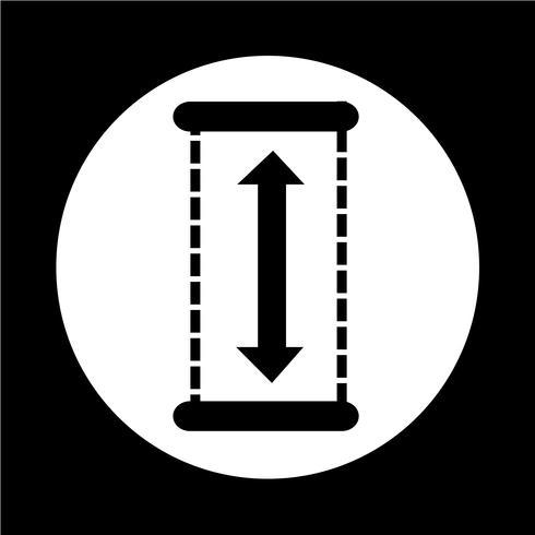 Höhe-Symbol vektor