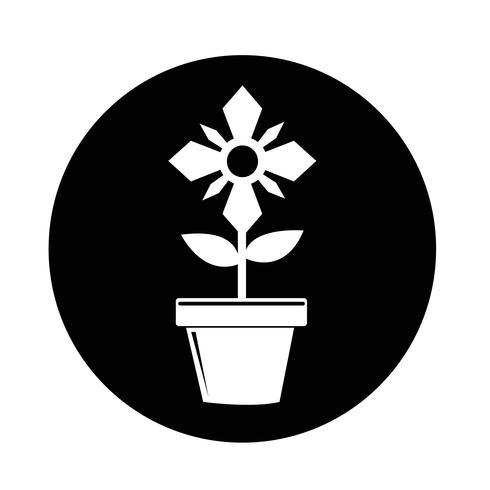 blomkruka ikon vektor