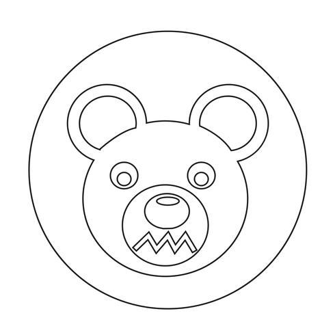 Bärensymbol vektor
