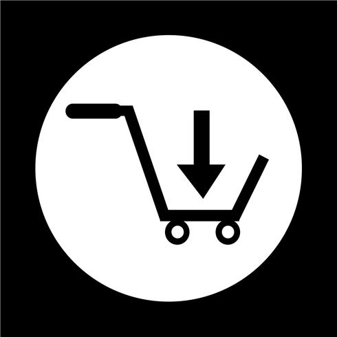 Warenkorb-Symbol kaufen vektor