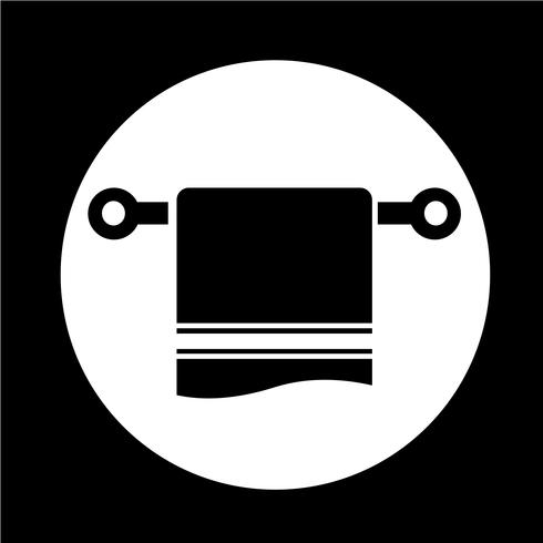 handduk ikon vektor