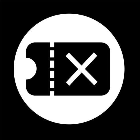 Ticket-Symbol vektor