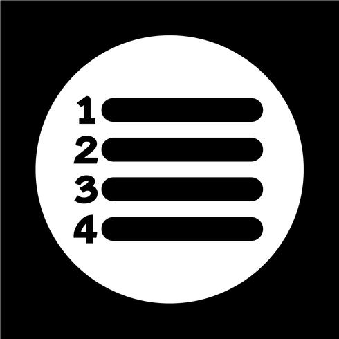 Listensymbol Zeichen vektor