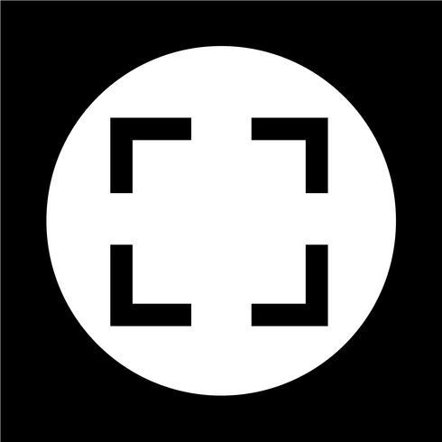 Fokus-Symbol vektor