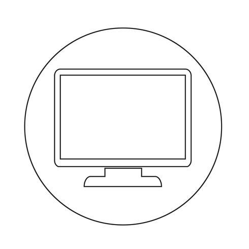 Monitor-Symbol vektor