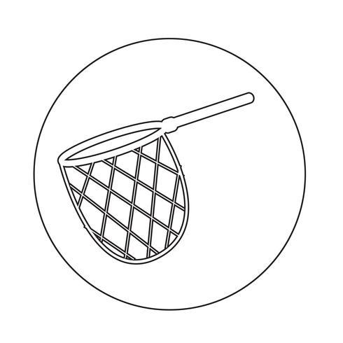 Fischerei Jagdnetz-Symbol vektor