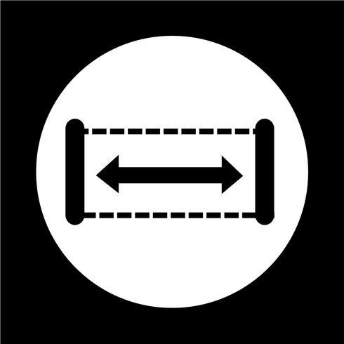 Breitensymbol vektor