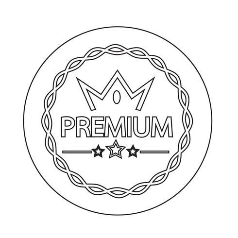 Premium-Qualität-Abzeichen-Symbol vektor