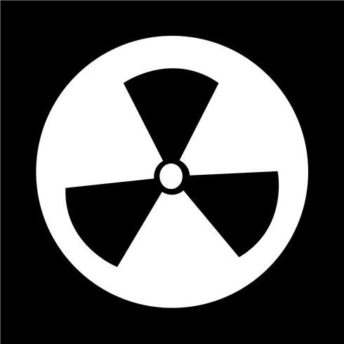 Ikon för radioaktivitetstecken vektor