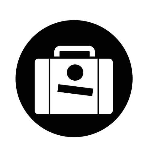 Resväska ikon vektor