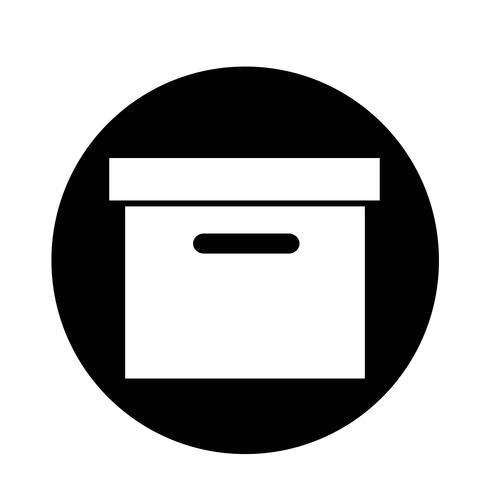 Box ikon vektor