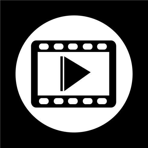 videofilmikonen vektor