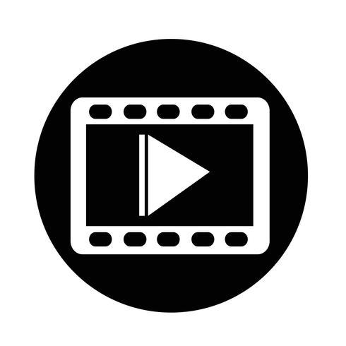 Videofilm-Symbol vektor
