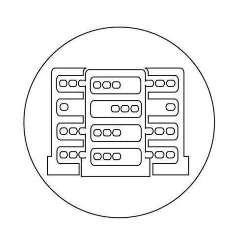 Datorns serverikon vektor