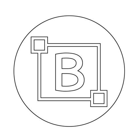 Fettgedruckter Text bearbeiten Briefsymbol vektor