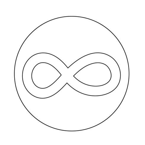 Grenzenloses Symbol Symbol vektor
