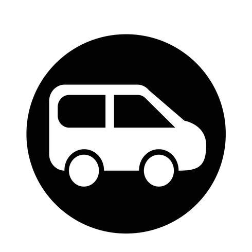 SUV-Auto-Symbol vektor