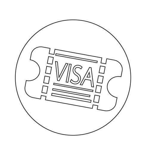 Einreisevisum-Symbol vektor
