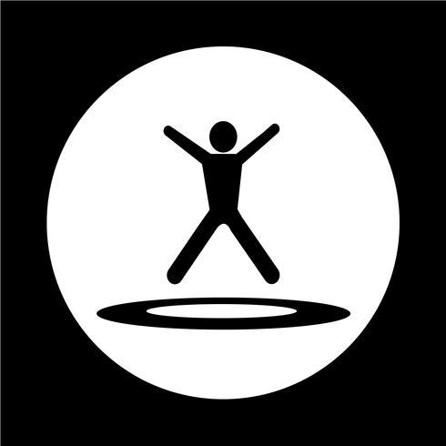 Springen Trampolin-Symbol vektor