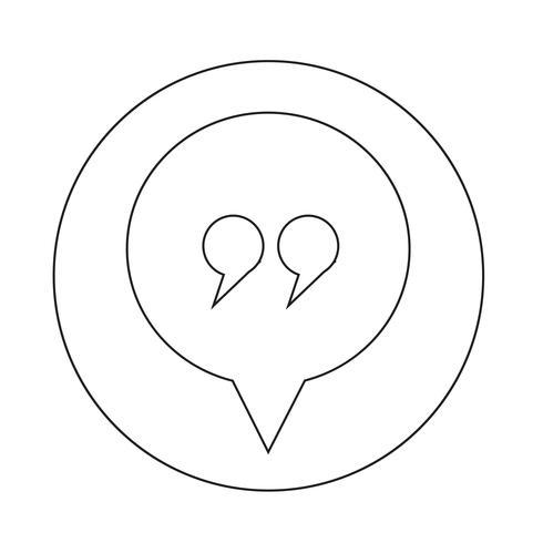 Dialogsymbol vektor