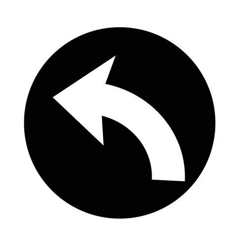 "Symbol ""Rückgängig"" vektor"