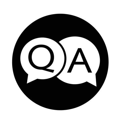 Frage Antwortsymbol vektor