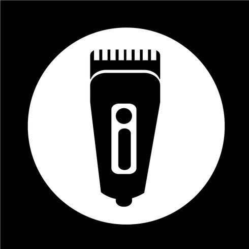 Rasierersymbol Haarschneider-Symbol vektor