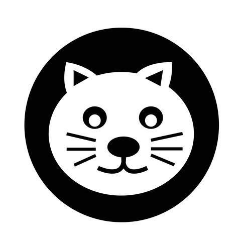 Katze-Symbol vektor