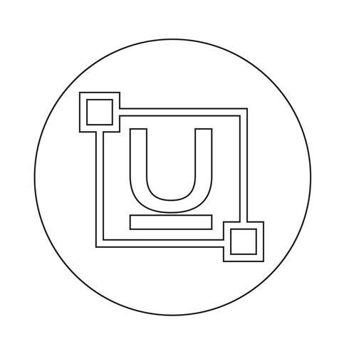 ubderline Text Schriftart bearbeiten Briefsymbol vektor