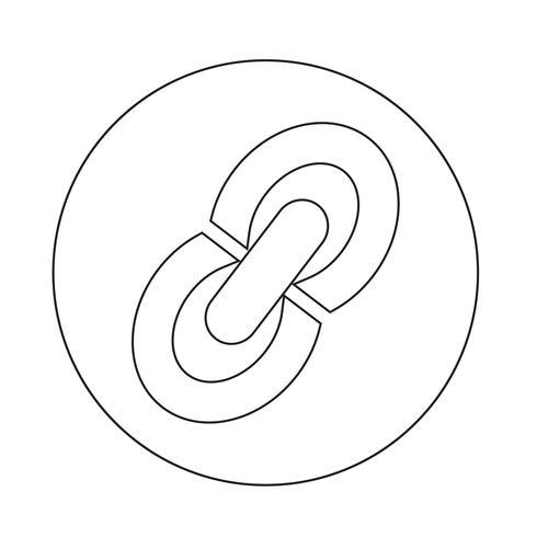 """Symbol """"Link bearbeiten"""" einfügen vektor"""
