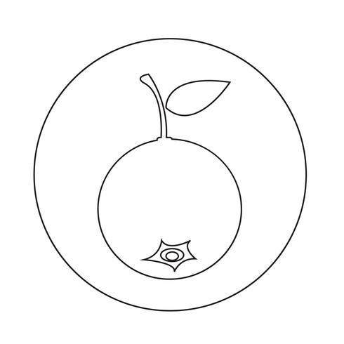 Heidelbeerfrucht-Symbol vektor
