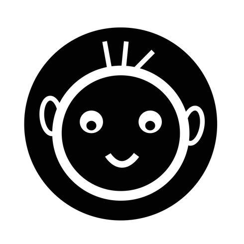 glückliches Kind-Symbol vektor