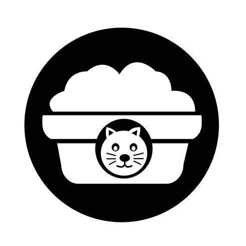 Haustier Katzenfutter Symbol vektor