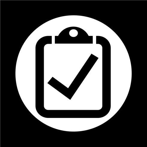 checklista ikon vektor