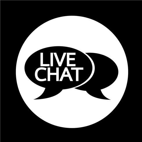 Live-Chat-Sprechblasen-Symbol vektor