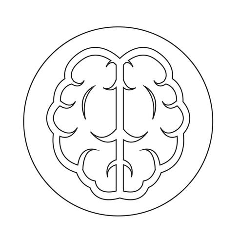 Gehirn-Symbol vektor