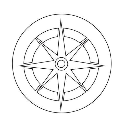 Kompassikon vektor