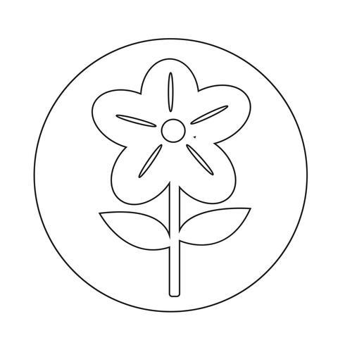 Blomma ikon vektor