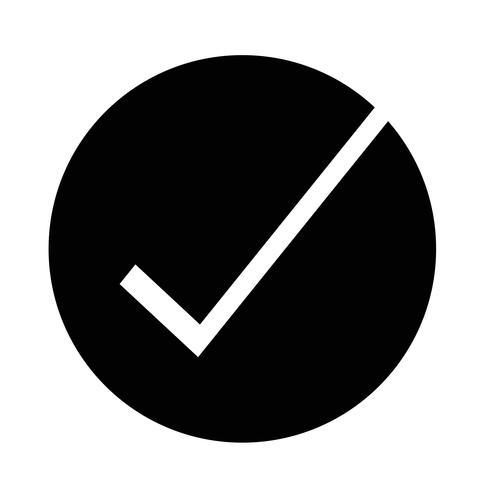 Richtiges Symbol vektor