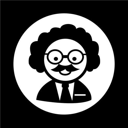 Forskare Professor-ikon vektor